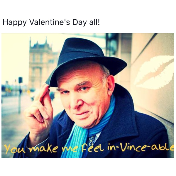 Vince Cable valentine ()