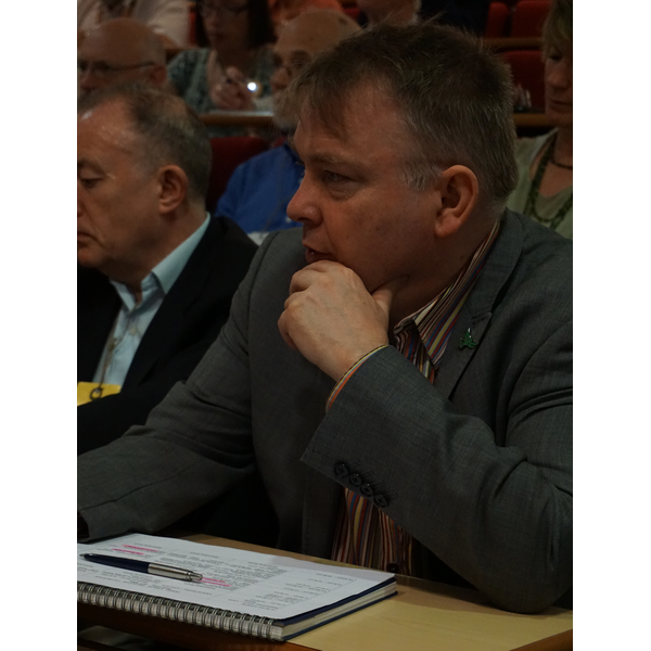 GLD Conference 2018 - Graham Neale listening to Simon Hughes (KNDaws)