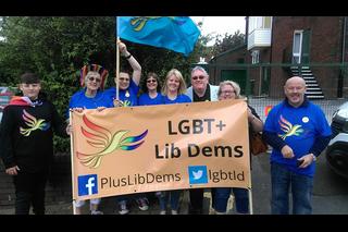 Lib Dems at Oldham Pride 2017
