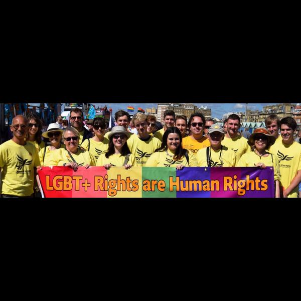 Brighton and Hove Lib Dems at Pride 2017