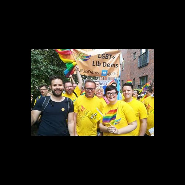 Liberal Democrats at Manchester Pride 2017