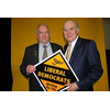 Aliatair Stevens with Vince Cable - The Liberal Democrat Shadow Chancellor - voted the most trusted to politician to improve the economy