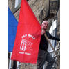 Alistair Stevens - puts out the flags in New Mills
