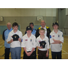 Alistair Stevens with  members of the High Peak Cricket Development Group,