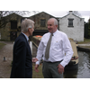 County Councillor Barrie Taylor with Alistair Stevens at Whaley Bridge Canal basin