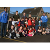 IMPROVED FACILITIES: youngsters enjoying the Kids Football sessions pictured with Cllr Barrie Taylor, Laura Cole from the Old Hall Inn, Joseph Winterbottom (volunteer coach) with Peak Active Sports Coaches. Photo contributed.