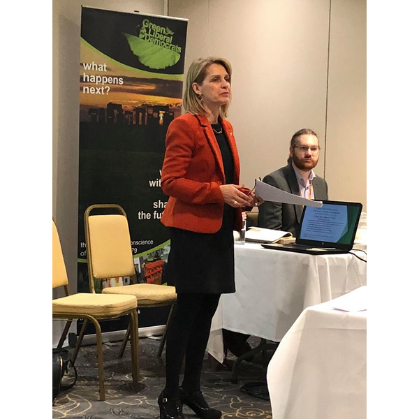 Wera Hobhouse MP, speaking at Southport Conference GLD fringe meeting (Jane Brophy)