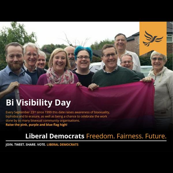 Bi Visibility Day 2018 - Northwest Liberal Democrats