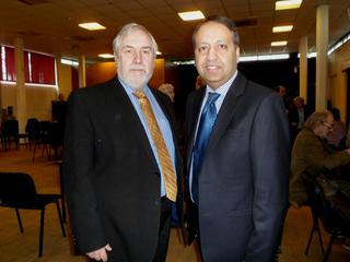 Phil Knowles and Zuffar Haq in Oadby