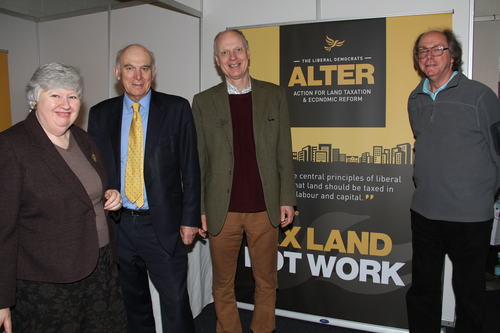 George Smid with Vince Cable